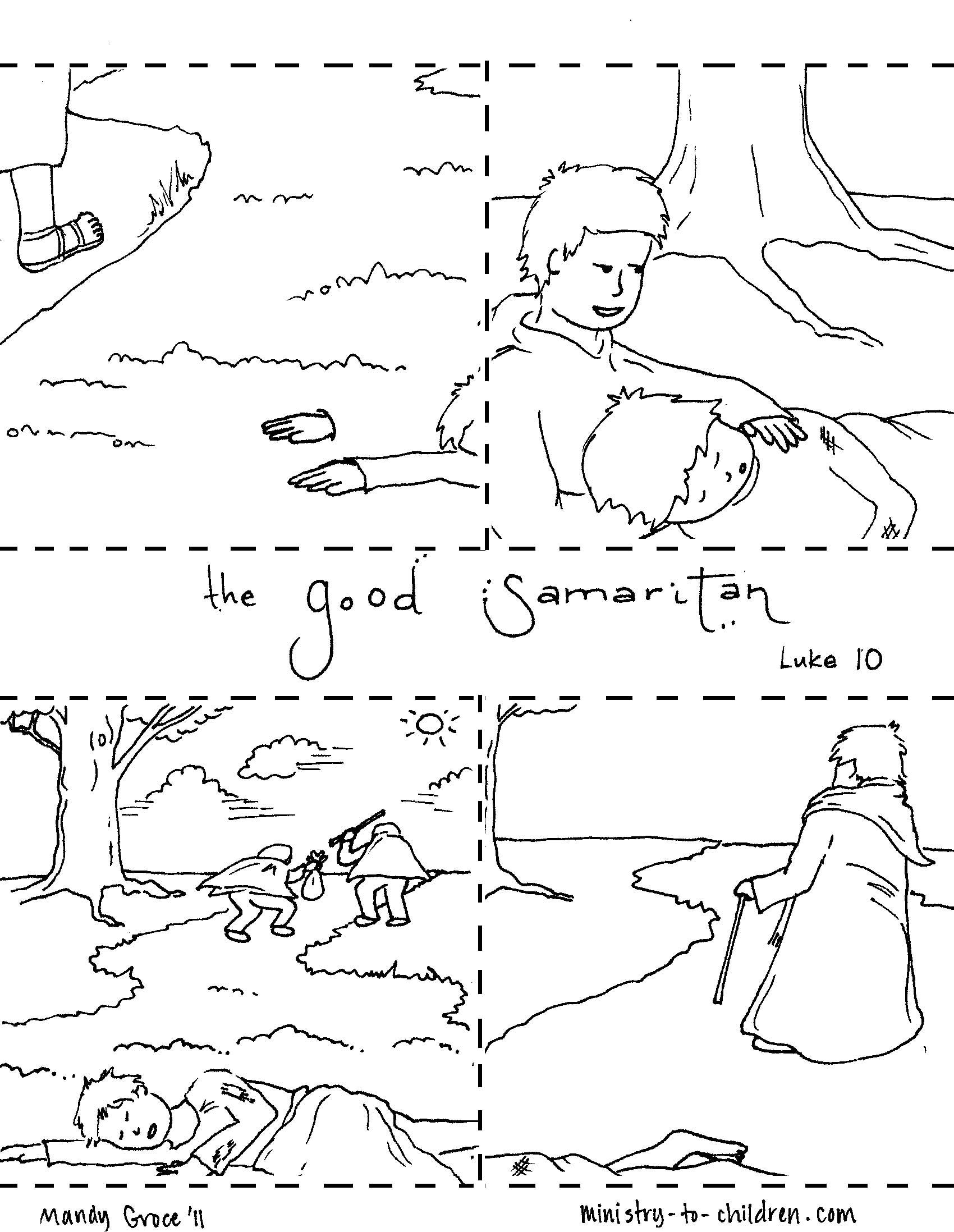 The Good Samaritan Coloring Pages | crafts | Pinterest | Sunday ...