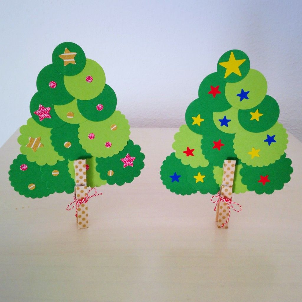 Diy Un Rbol De Navidad F Cil F Cil Para Hacer Con Los Peques  ~ Crismas De Navidad Hechos Por  Ninos