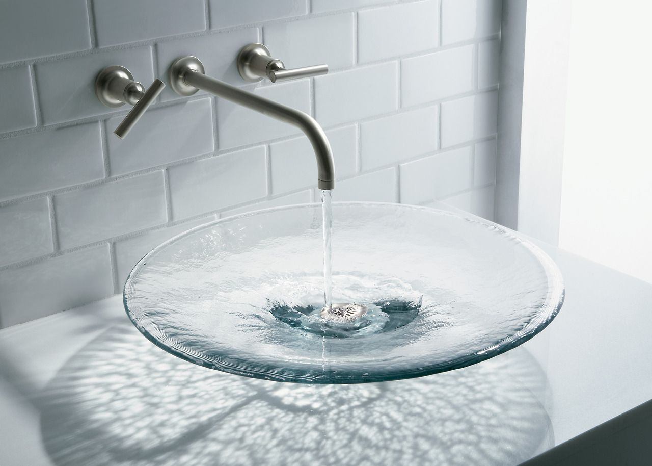 Bold Ideas From Kohler Glass Sink Glass Basin Glass Bathroom