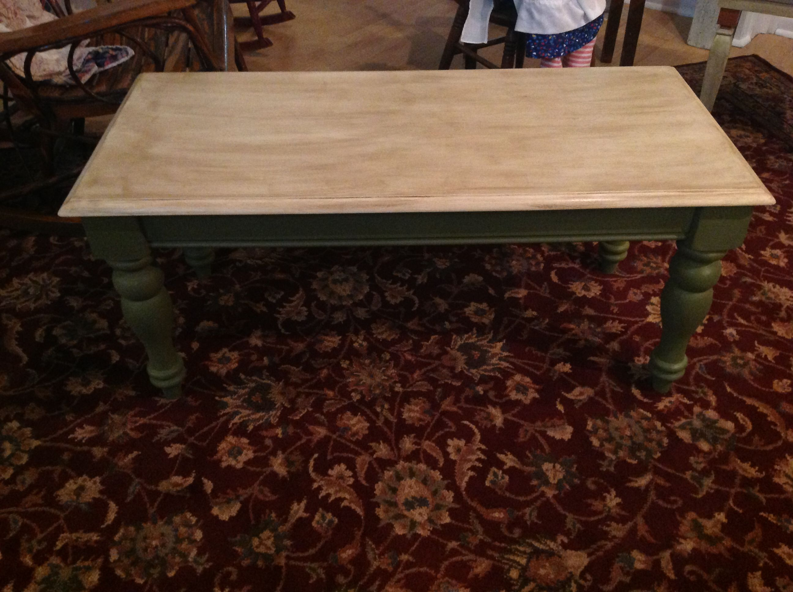 Refurbished Coffee Table Annie Sloan Olive And Old Ochre
