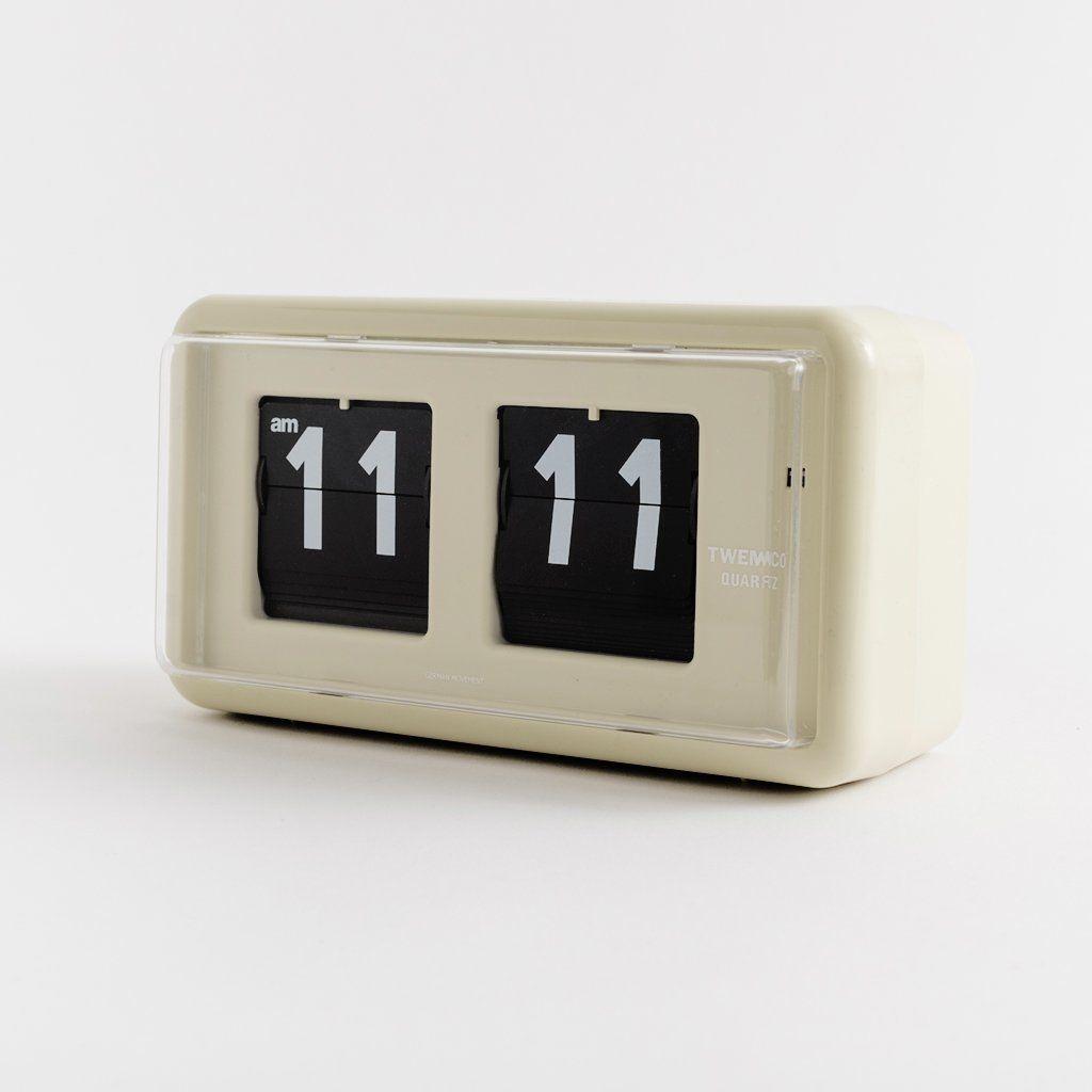 Mid Century Flip Clock Cream Flip Clock Clock Retro Alarm Clock
