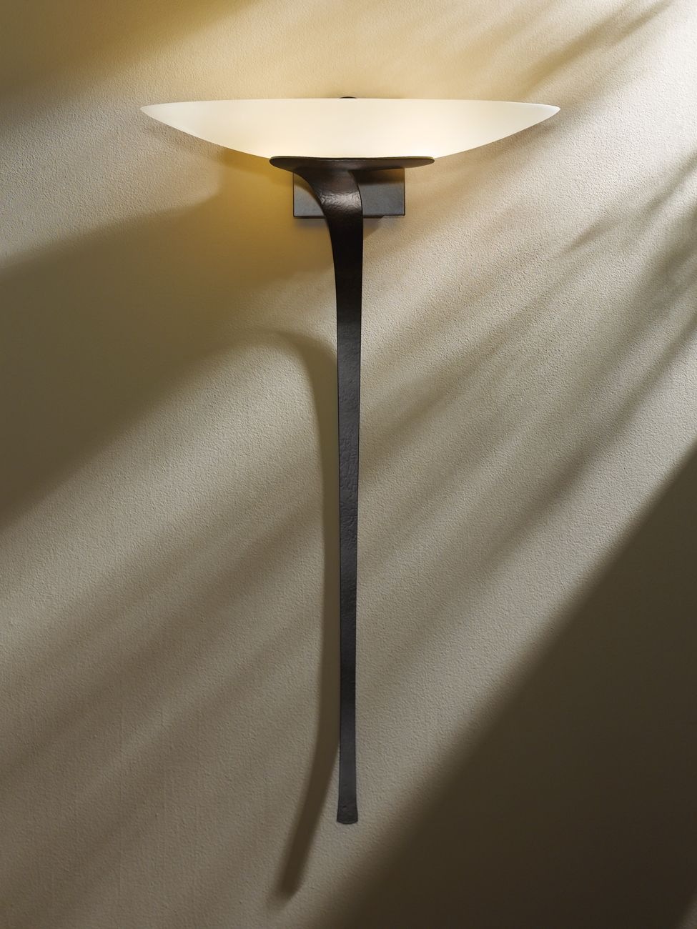 Hubbardton Forge Direct wire wall sconce with glass options: Antasia. Diffuser included.