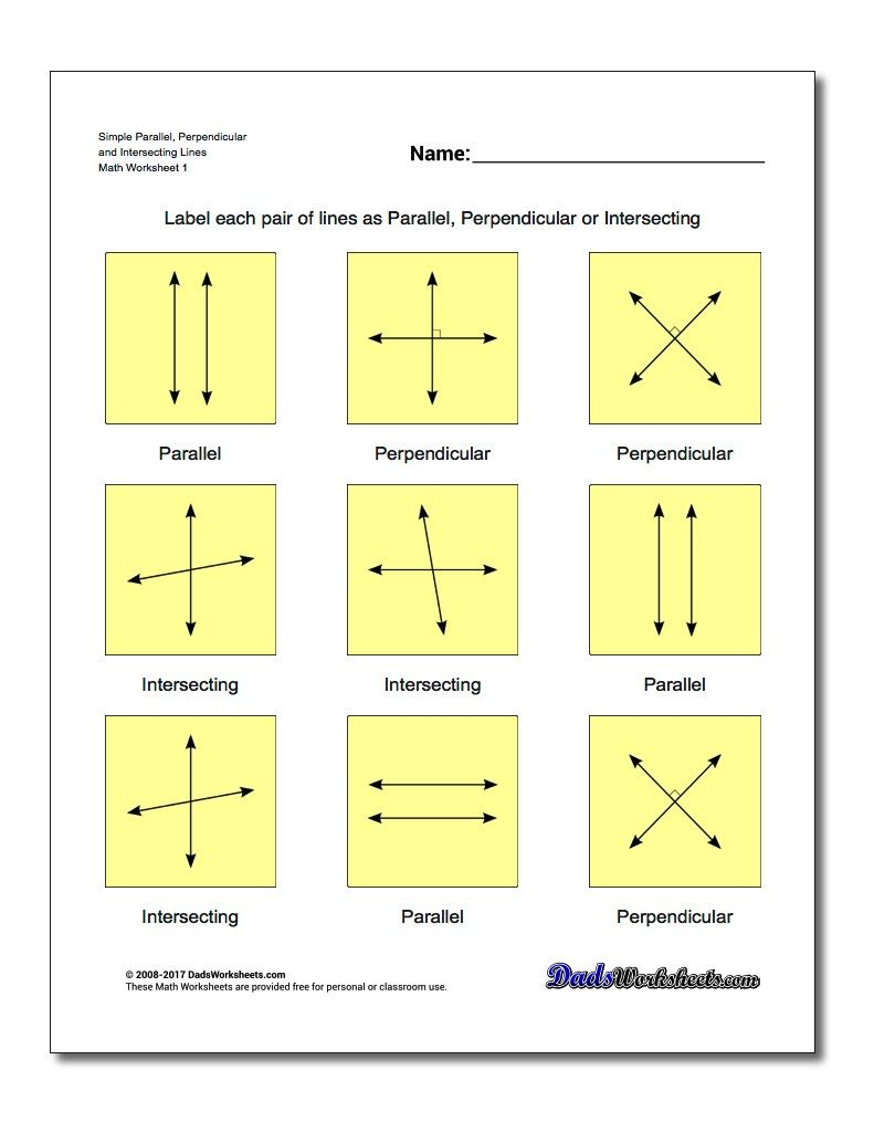 Free math worksheets for Basic Geometry problems | Math Worksheets ...