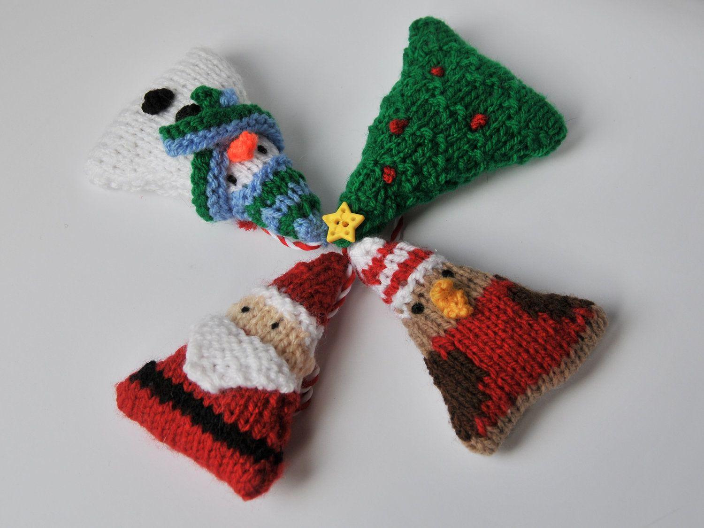 Christmas Knitties ornaments knitting pattern pdf | Knit patterns ...