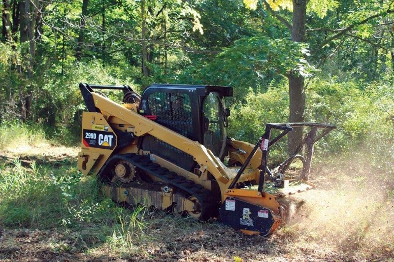 Bandit's Model 60FM (Forestry Mulcher) ATTACHMENT on a CAT