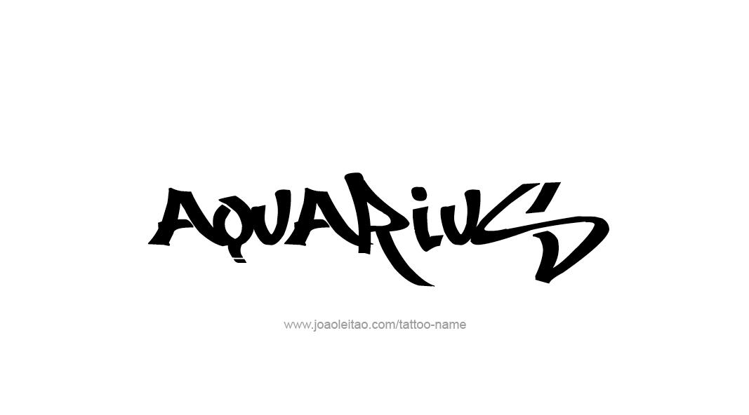 aquarius tattoos | tattoo-design-horoscope-names-aquarius-23.png