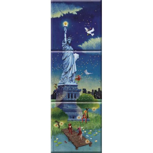 """Marie-Anne Foucart magnet """"La statue de la Liberté"""" (Triptyque complet 80x240mm)"""