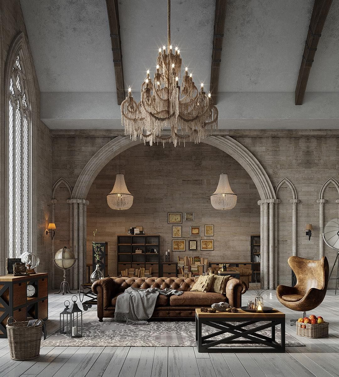 24 Classy Masculine Living Room Design Ideas With Rustic Style