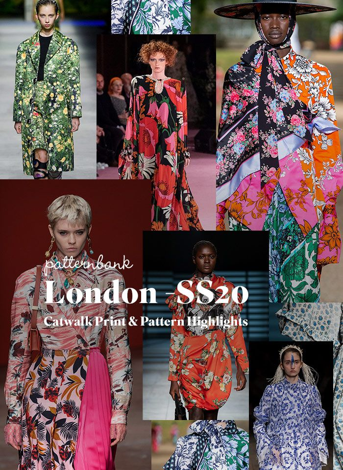 London Fashion Week Print & Pattern Highlights Spring/Summer 2020