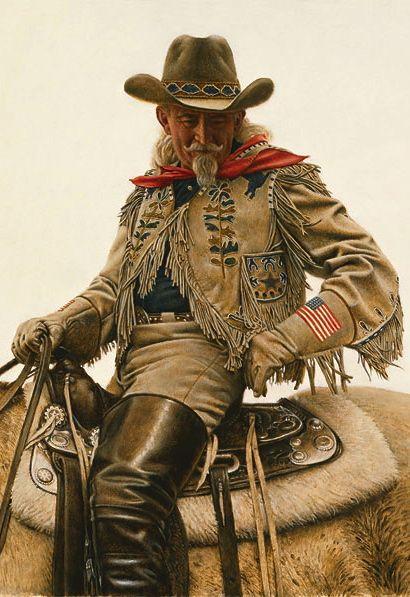 Buffalo Bill Deatil By Artist James Bama Western Artist Cowboy Art West Art