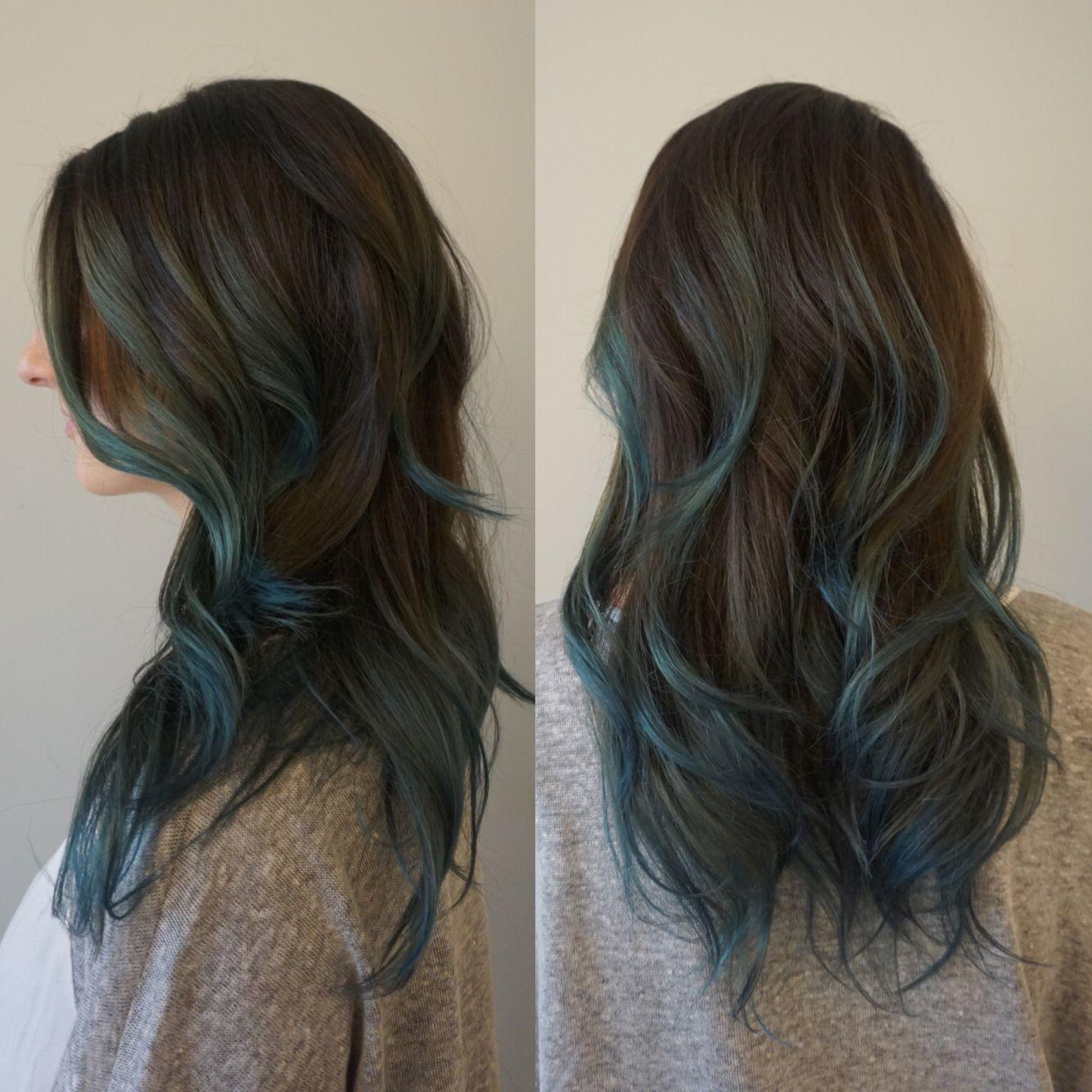 Dusty Blue Sombre Holly At Blueprint Modern Hair In Portland Or Instagram Hollylikeshair Hair Highlights Long Hair Styles Hair Styles