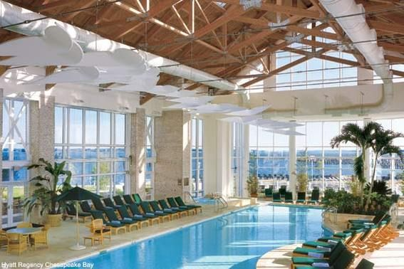 Hyatt regency chesapeake bay indoor swimming pool cambridge md my kids love this pool so for Hotels in cambridge with swimming pool