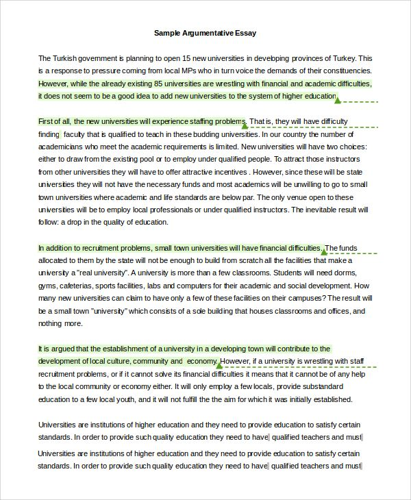 argumentative essay example samples pdf word writing papers - sample argumentative essay