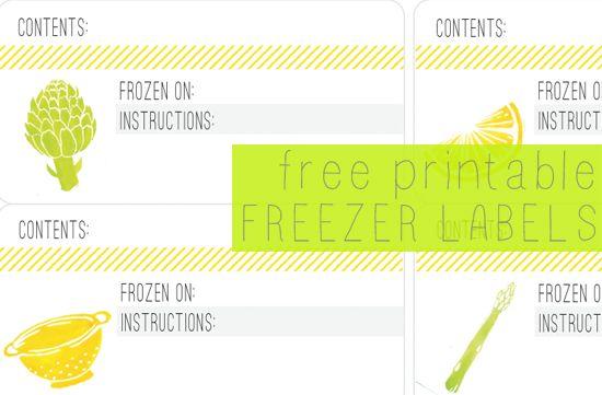 Free Printable Freezer Labels