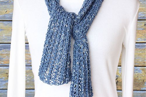 Ravelry Easy Lace Knit Scarf Pattern By Kimberlees Korner