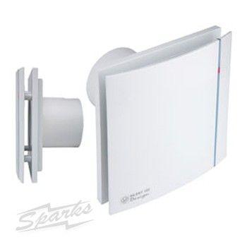 Sild10tw Silent 100 Design White Bathroom Fan With Adjustable Timer Ip45 Quiet Toilet Fan Sildes100t Bathroom Fan Bathroom Extractor Fan Extractor Fans