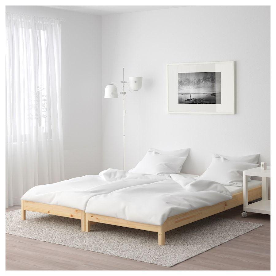 Utaker Cama Empilhavel C 2 Colchoes Pinho Malfors Firmeza Media 80x200 Cm Ikea Spare Bed Ikea Bed Small Room Design