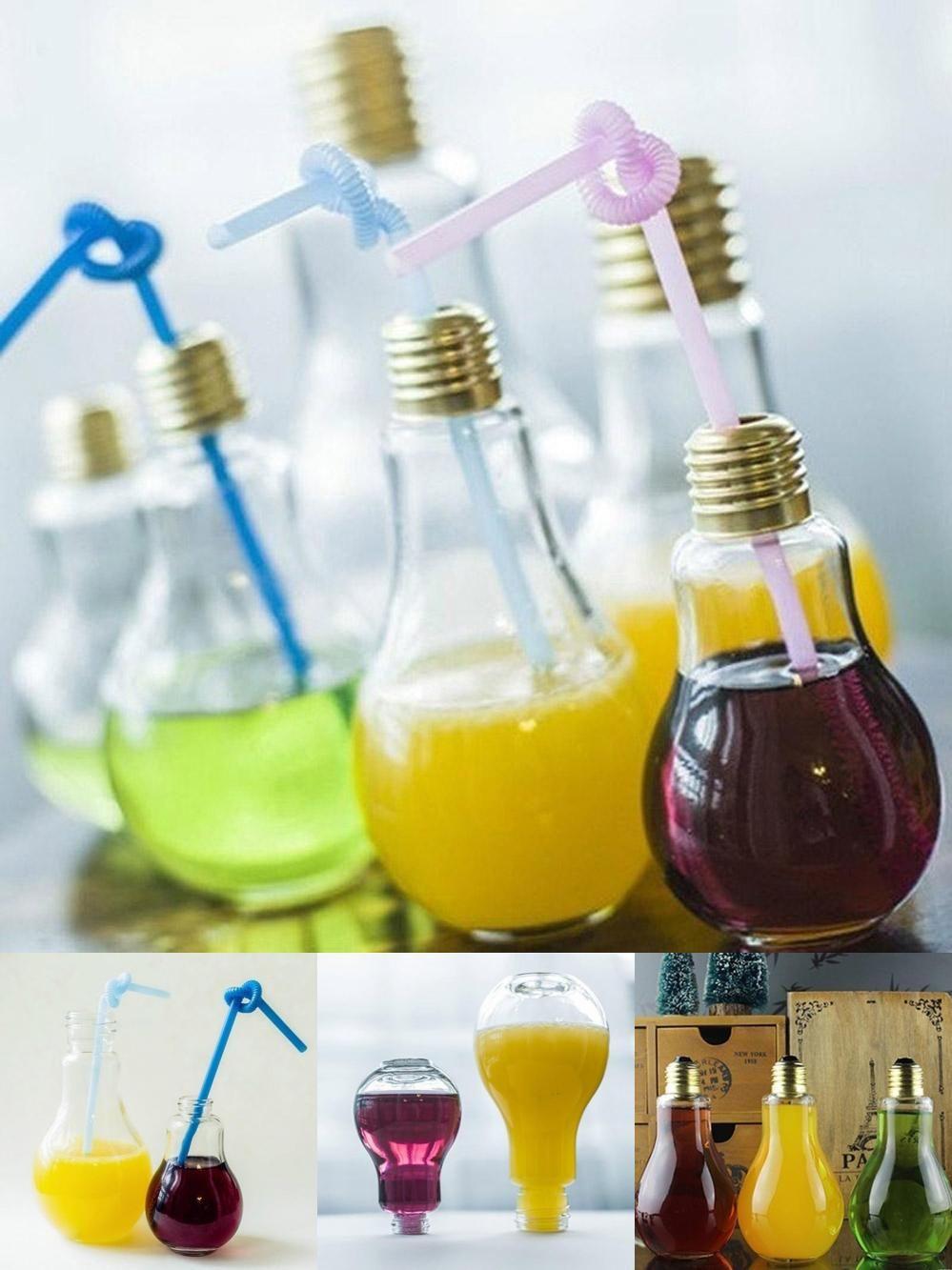 Visit to Buy] Light Bulb Beverage Milky Tea Fruit Juice Drink Bottle ... for Lamp Bottle Juice  166kxo