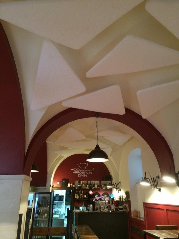 Trattamento acustico di un ristorante con soffitto a volta ...