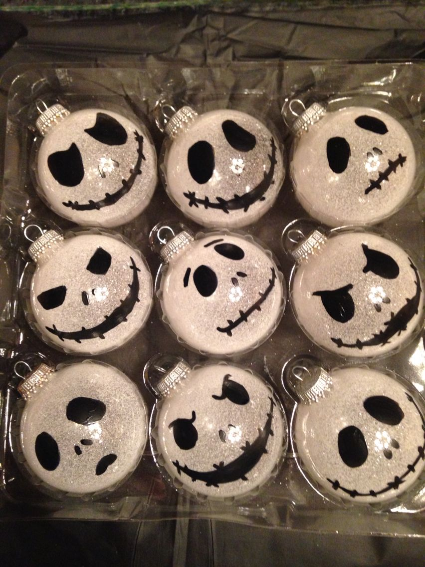 DIY nightmare before Christmas tree ornaments | Holiday Deco ...