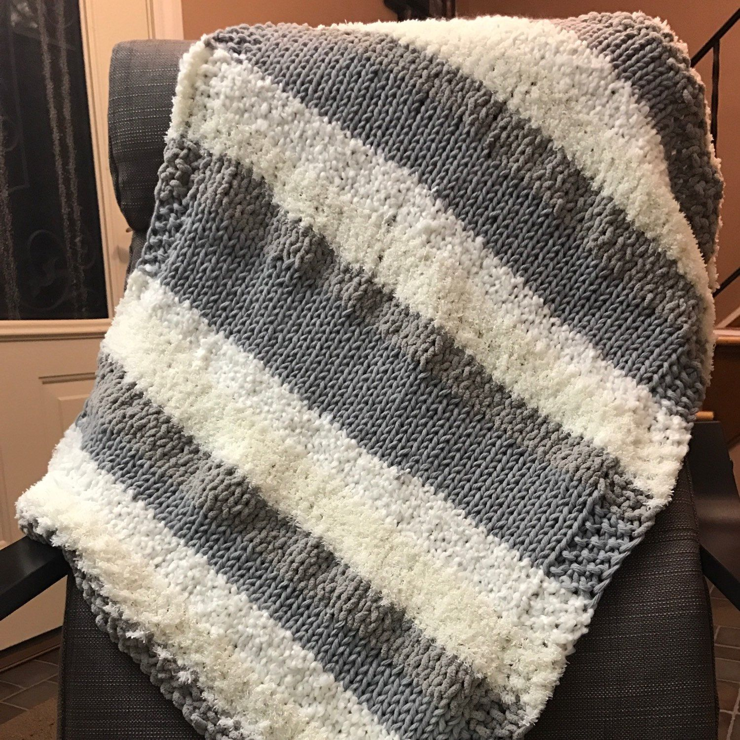 Cream and Gray Home Bundle baby blanket! | My knitting projects ...