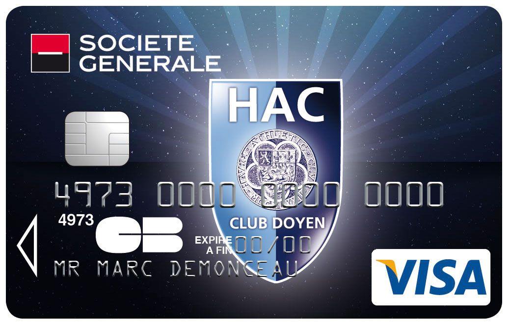 Carte Visa #societegenerale #Football Havre Atheltic Club #HAC | Sport, Cartes, Collection
