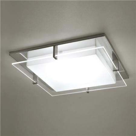 Square Flush Mount Kitchen Ceiling Lights Glass Light Cover Fixtures