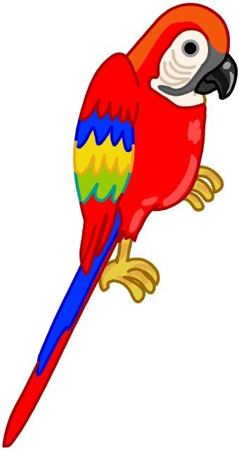 free clip art of parrots clip art of a red parrot with colorful rh pinterest com parrot clip art images parrot clipart images
