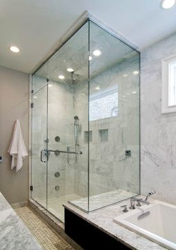 Another Example Of Tub Deck Extended To Serve As Shower