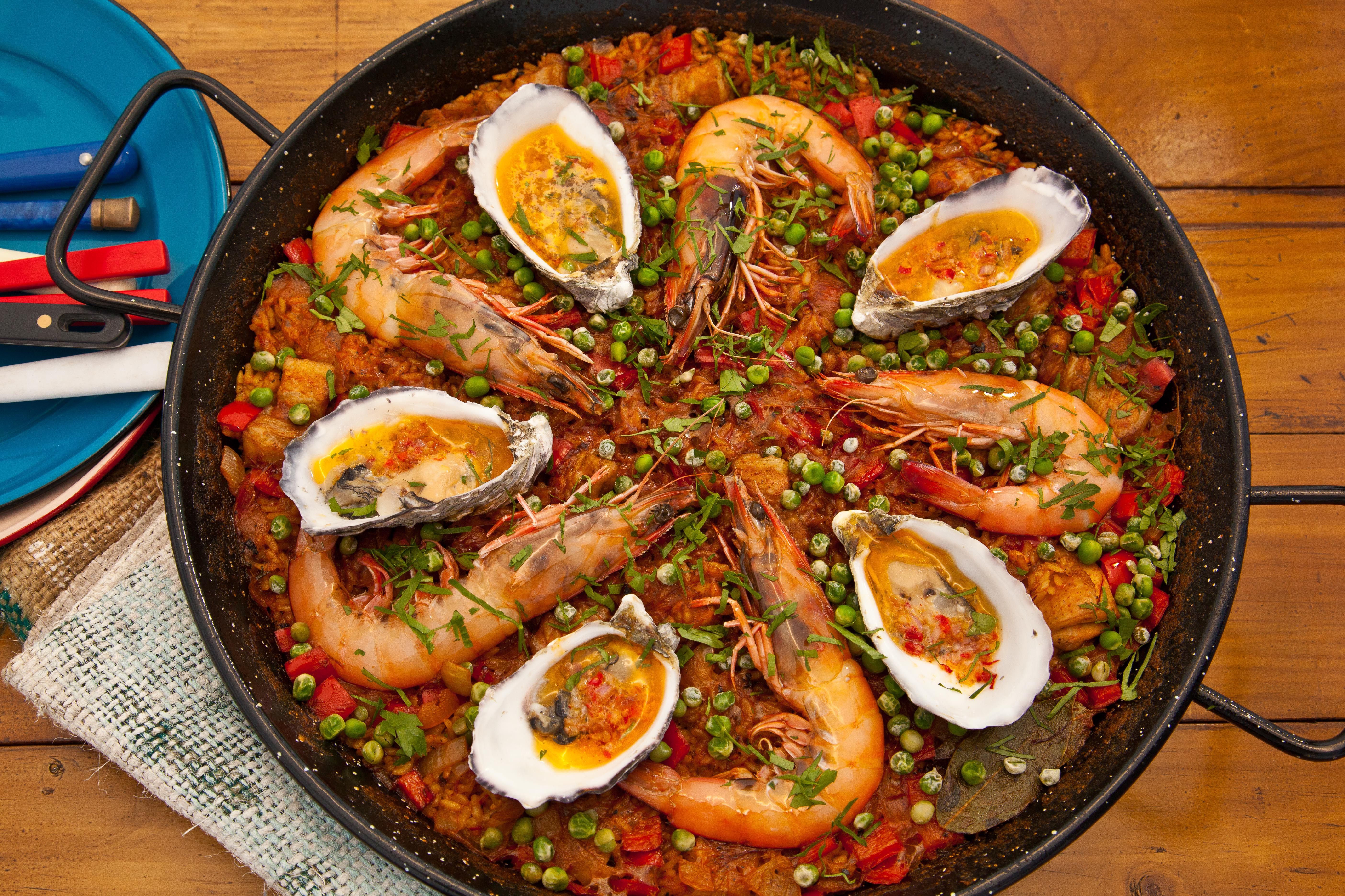 Pacific paella food pinterest paella barley grain and risotto spanish recipes and spanish food sbs food forumfinder Images
