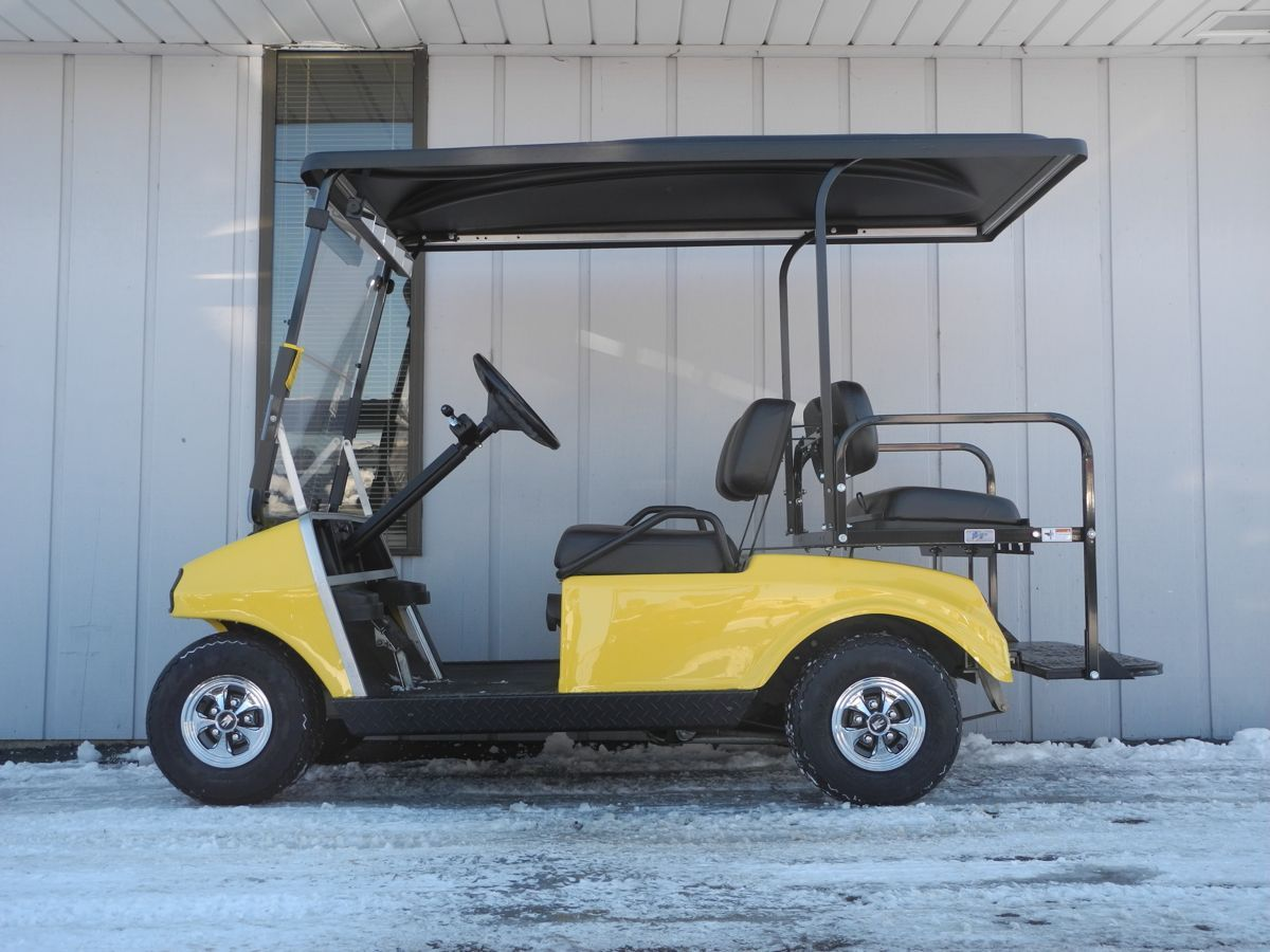 10+ Black extended golf cart top information