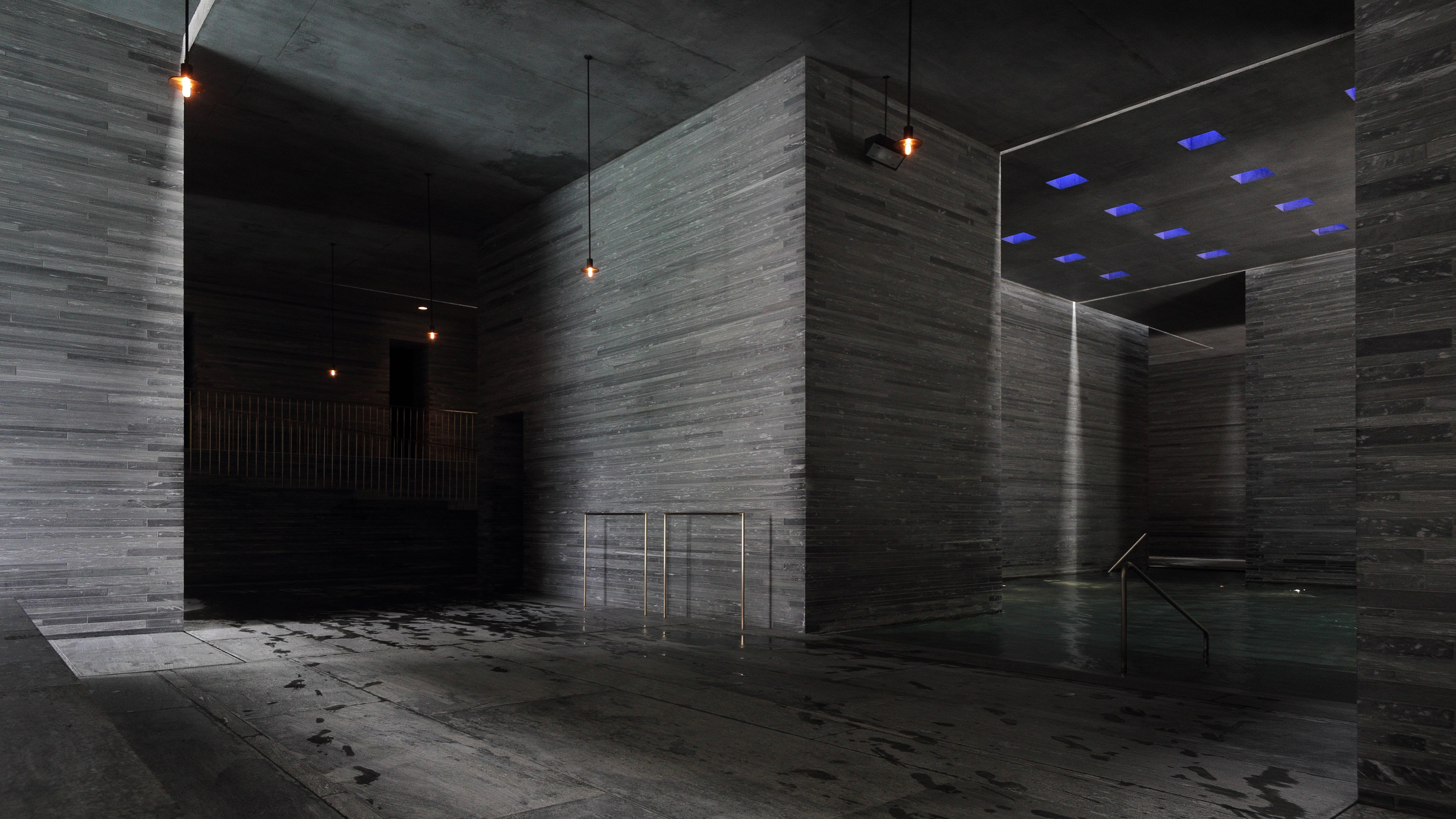 Therme Vals Switzerland by PeterZumthor Interior Pools