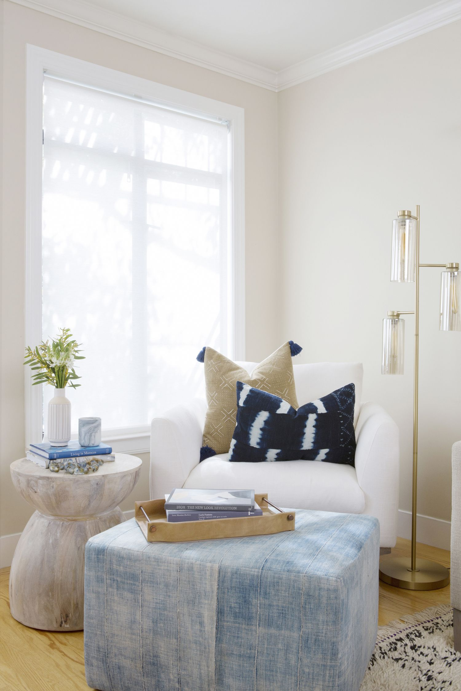 Reading Nook Mudcloth Chairs And Ottoman Via Sun Soul Style