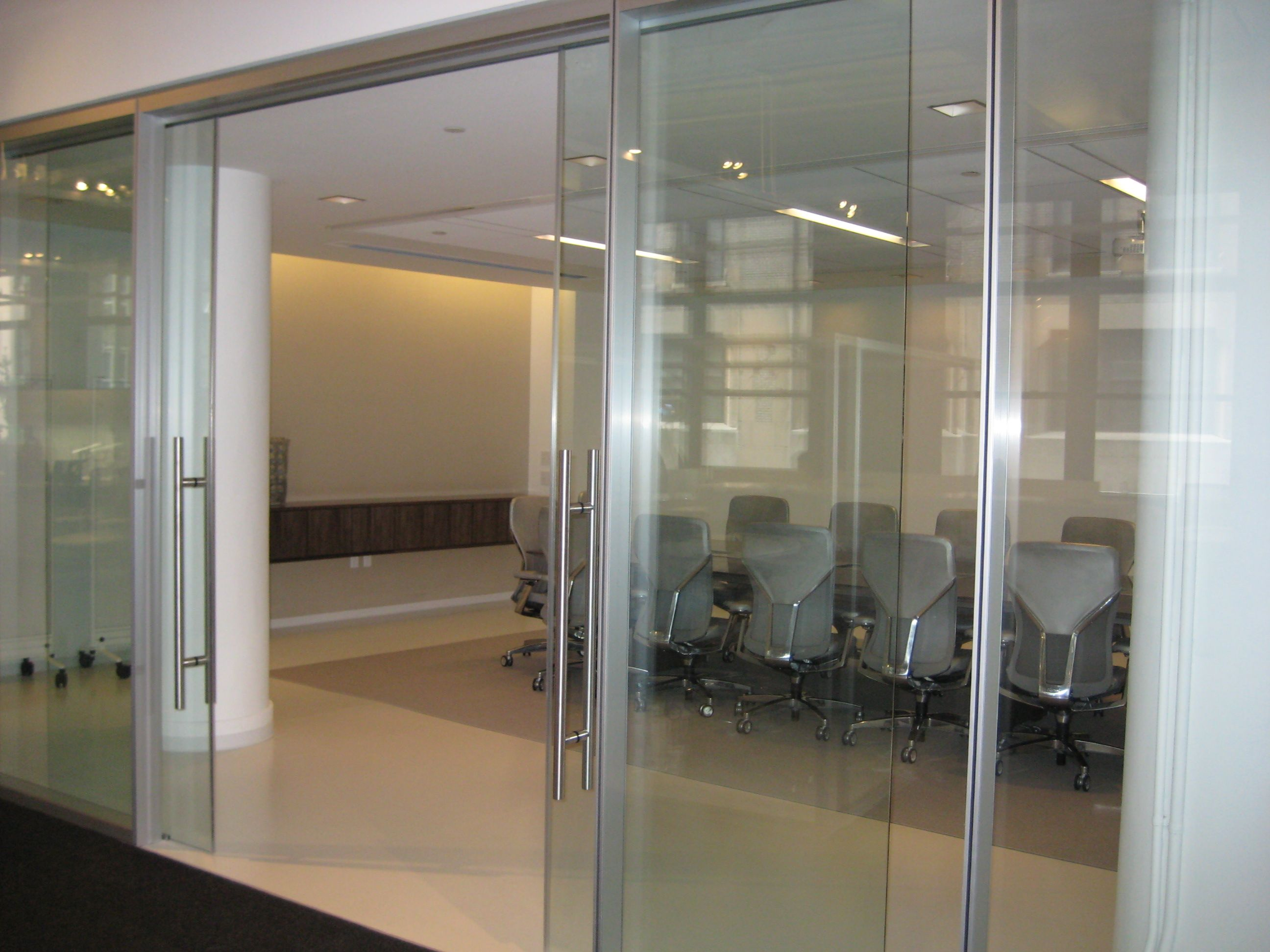 office sliding door. Refine Double Glazed With An All Glass Sliding Door. Infinium Wall Systems, Office Door