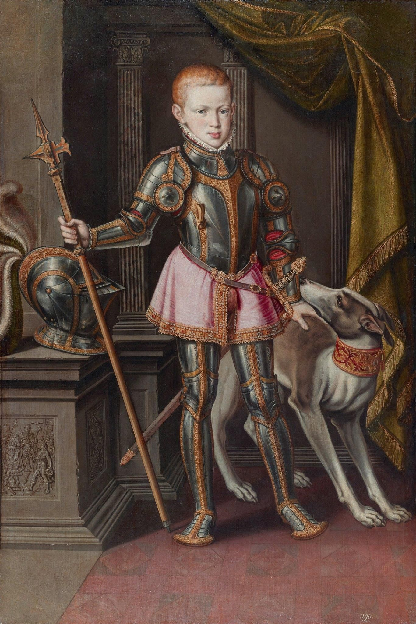 Sebastian I, King of Portugal. Alonso Sánchez Coello, 1562