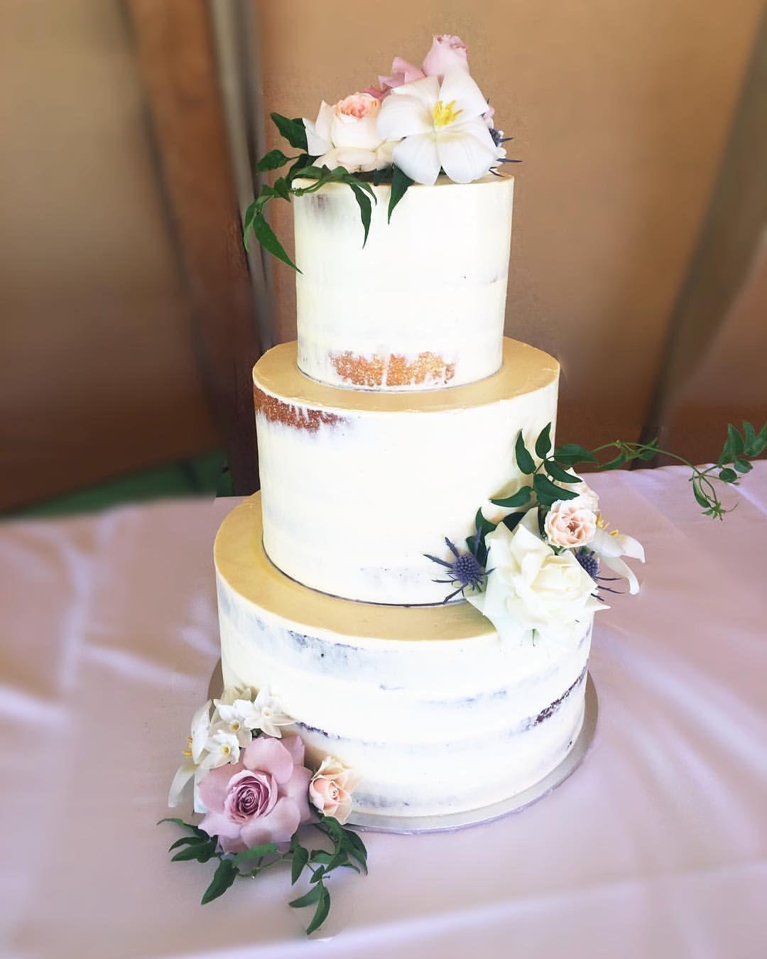 Semi Naked Cake Fresh Flowers Cake Wedding Cake 3 Tier