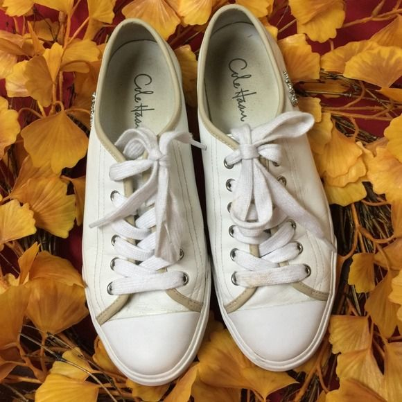 """Selling this """"LISTING Cole Haan White Baseball Shoes"""" in my Poshmark closet! My username is: cindyciara. #shopmycloset #poshmark #fashion #shopping #style #forsale #Cole Haan #Shoes"""