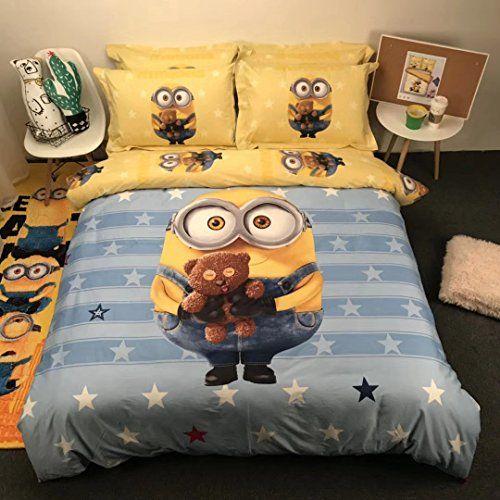Best Casa 100 Cotton Kids Bedding Set Boys Minions The First 400 x 300