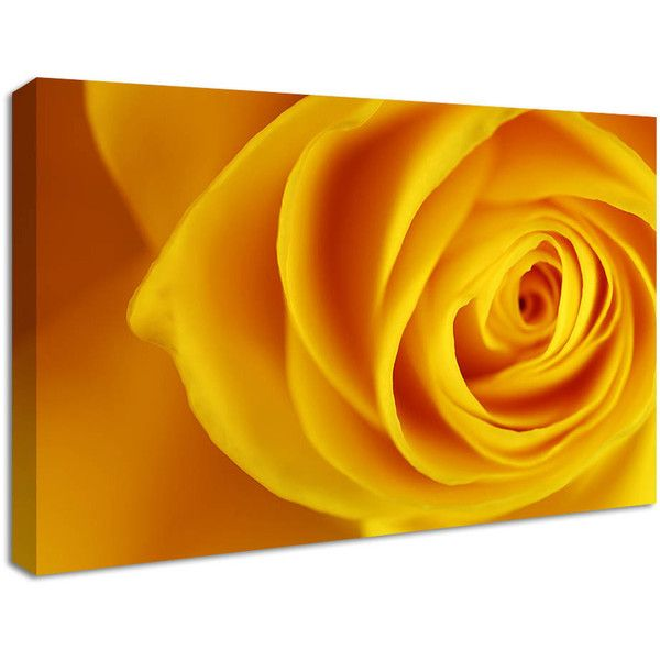 NuCasa Yellow Rose Canvas Print ($44) ❤ liked on Polyvore featuring ...