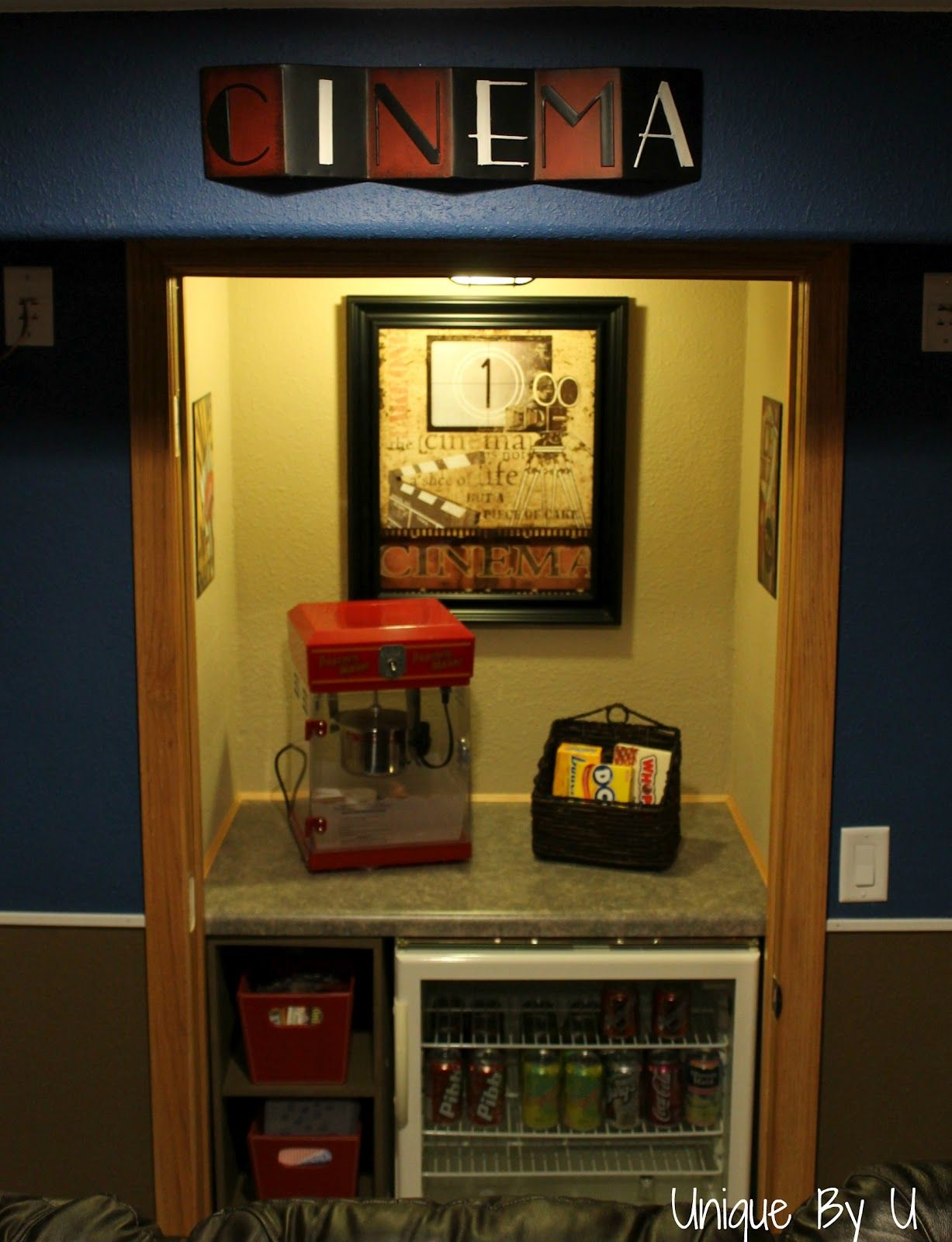 movie theater themed bedroom popcorn - Google Search   New Apt ...