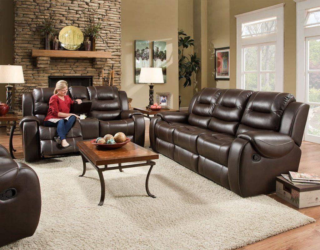 Corinthian Jamestown Umber Reclining Sofa And Loveseat Couch And Loveseat Reclining Sofa Living Room Sets