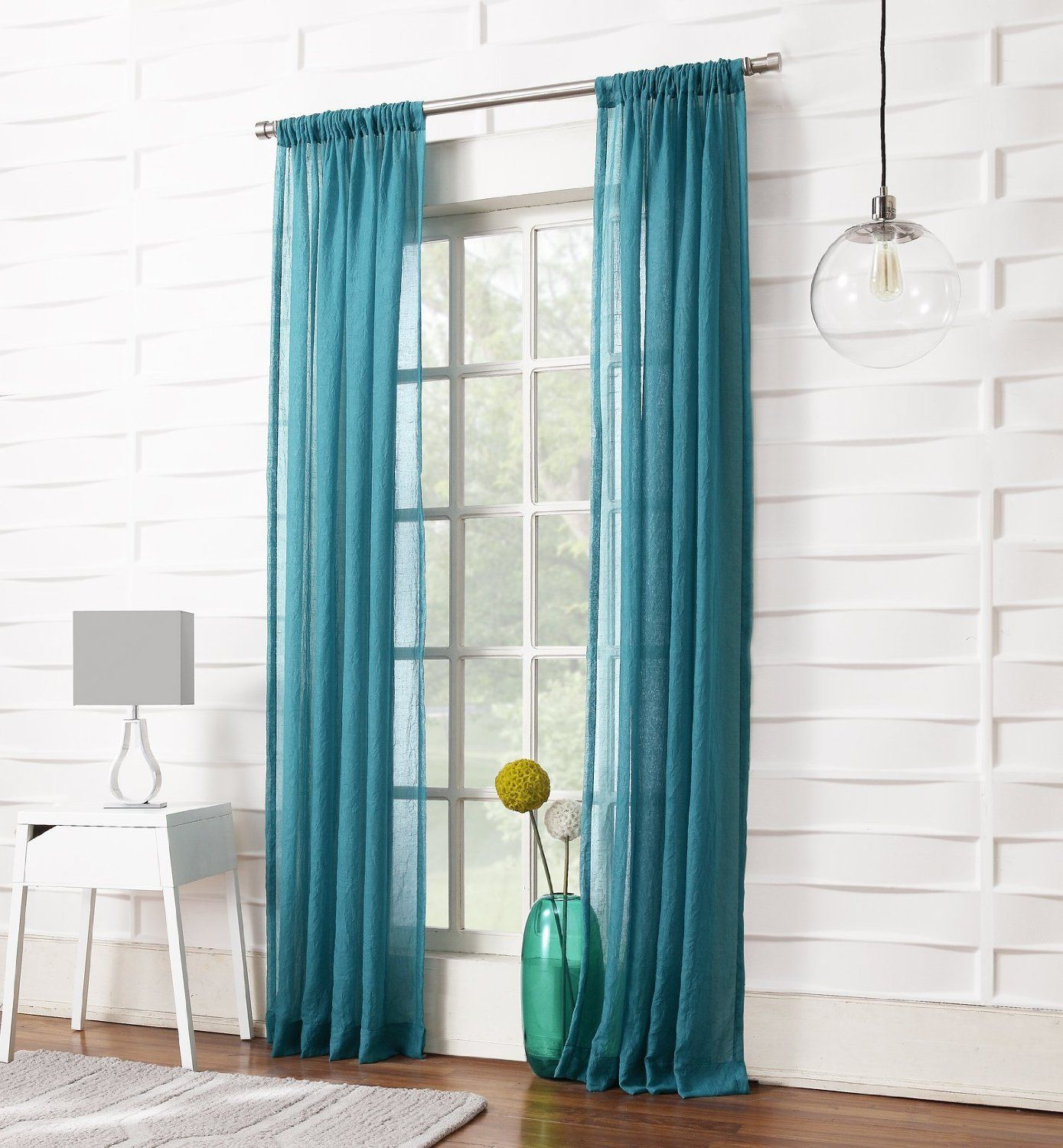 amazonsmile no 918 tayla crushed sheer curtain panel 50 by 95