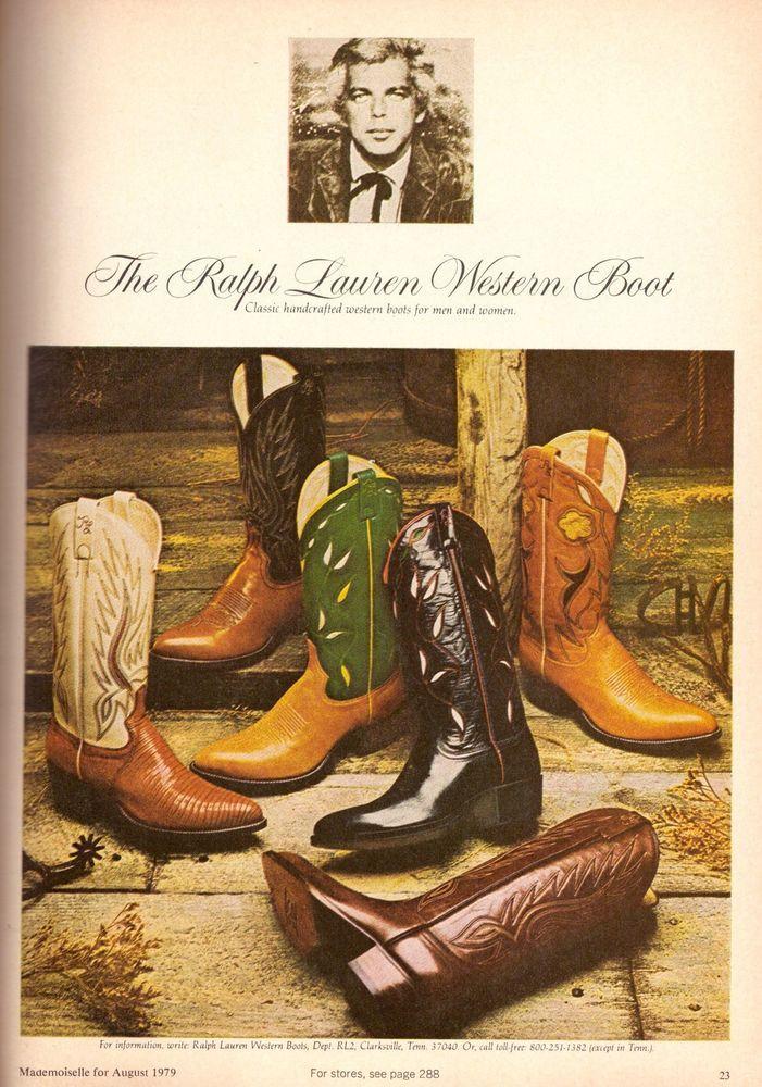 9438463ec08 1979 Ralph Lauren Cowboy Western Boots Print Advertisement Ad ...