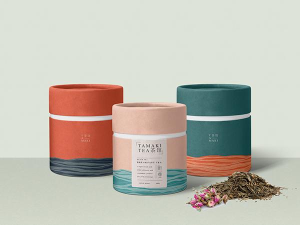 TAMAKI tea house - branding + packaging