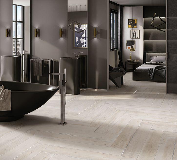 Cerdomus Mowa - Fliesen im Badezimmer mit einer Holzoptik - schlafzimmer mit badezimmer