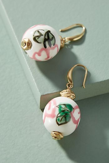 Anthropologie Painted Dogwood Drop Earrings 7oTsCRH3qX