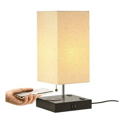 Lecone Table Lamp With Wireless Charger Lamp Wireless Charging Lamp Touch Table Lamps