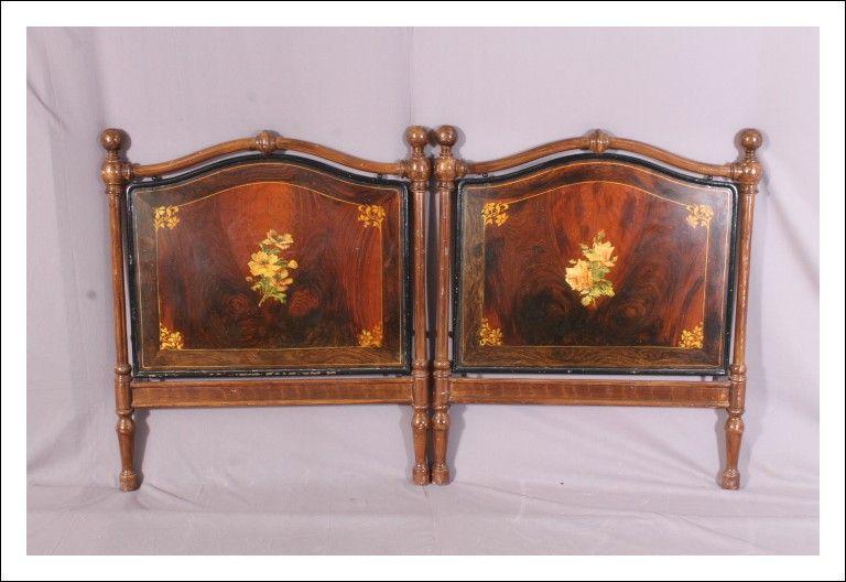 Testata letto antica ferro dipinta epoca 800 Toscana. L