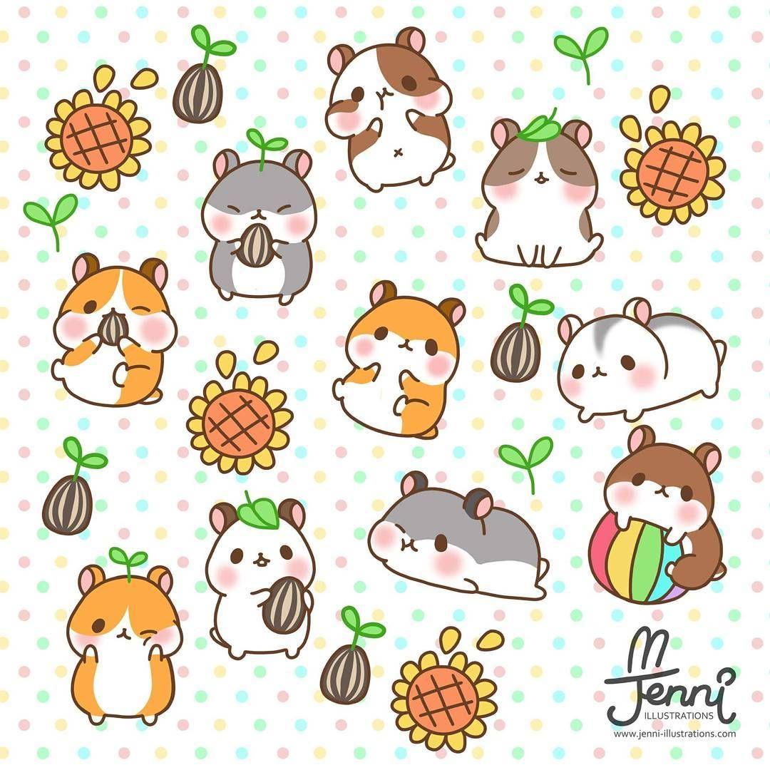 J E N N I On Instagram Hamster Lovers Hope It Brighten Up Your Day Hamster Hamsterlov Cute Doodles Cute Drawings Cute Kawaii Animals