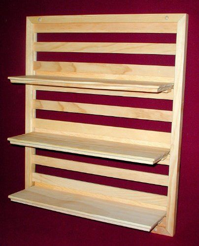 wood wall shelf 20 wide x 24 high with three 18 shelves unfinished made in usa by shelf. Black Bedroom Furniture Sets. Home Design Ideas